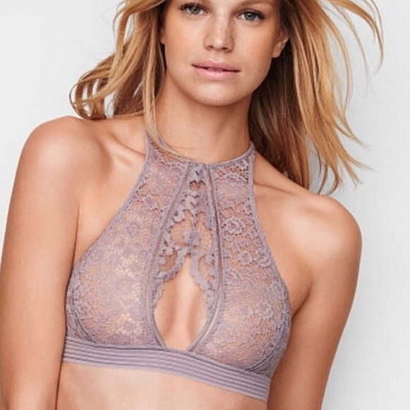 2ad036f6acb9e Victoria s Secret Keyhole High Neck Bralette